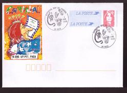 France PAP Pret à Poster Marianne De Briat Carnaval Roy Du Cinéma Cachet Commemoratif 1995 10 Ans US PTT PACA - Entiers Postaux