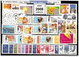 FRANCE - Année Complète 2008 - NEUF LUXE ** 200 Timbres - SUPERBE