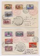 MAIL Post 2 Cover Used USSR RUSSIA Set Stamp Space Rocket Sputnik Train Railway Lenin
