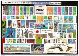 FRANCE - Année Complète 2002 - NEUF LUXE ** 97 Timbres - SUPERBE