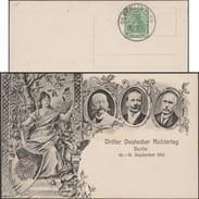 Allemagne 1913. Carte Postale, Entier TSC. Journée Allemande Des Juges. Oblitération Concordante, Chêne, Glaive
