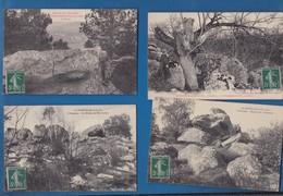 91 ESSONNE  LA FERTE ALAIS  Les Rochers  Lot De 4 Cartes - La Ferte Alais