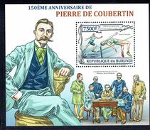 785 PIERRE DE COUBERTIN BURUNDI 2012  BLOCK SHEET MINT MNH **
