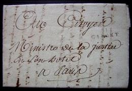 An 9 Marque 31/ GIMONT Sur Une Lettre Du Juge De Paix Du Canton De Mauvezin Pour Le Citoyen Ministre De La Justice - 1801-1848: Precursors XIX