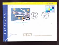 PAP DISTINGO Repiqué Repiquage Les Cheminots Philatélistes Cachet Commemoratif 59 Douai 1993 Electrification - Prêts-à-poster:  Autres (1995-...)