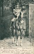 AK Kaiser Wilhelm II Hoch Zu Ross, Gruss Aus Potsdam, O 1905 (22424) - Königshäuser