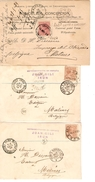 Spain 8 PC From Irun With Spanish-french Ambulant 1888-1889-1890 To Belgium Malines Scarce Combination PR3958 - Cartas