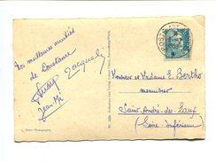 8 Fr Type Gandon Seul Sur Carte  De Constance (allemagne) Avec Oblitération POSTE AUX ARMEES - 1921-1960: Periodo Moderno