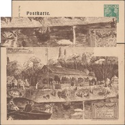 Allemagne 1904. Carte Postale, Entier TSC. Fêtes Estivales, Ulm Friedrichsau. Barque, Femme Avec Parasol, Cygnes, Canard