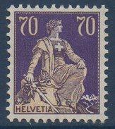 CH 1924/1927  Helvetia  70c Violet  N° YT 207  **  MNH