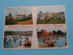 """Groeten Uit Camping """" DRY EYCKEN """" ( Kipdorp / Unic Herselt ) Anno 19?? ( Zie Foto Voor Details ) !! - Herselt"""