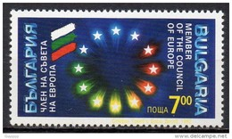 Bulgarie - 1992 - Yvert N° 3477 **  - Adhésion Au Conseil De L'Europe