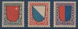CH 1920  Pour La Jeunesse : Schwyz Zurich Tessin  N° YT 176-178 ** MNH