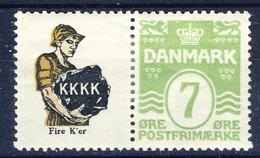 #Denmark 1927-30. Advertising Appendage. Michel R34. MH(*).  AFA Estimation 8€ - Neufs