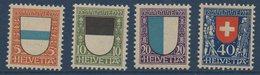 CH 1922  Pour La Jeunesse : Zoug Fribourg Lucerne Winkelried   N° YT 188-191 ** MNH