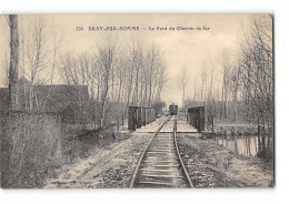CPA 80 Bray Sur Somme Le Pont De Chemin De Fer Et Le Train Tramway Ligne D'Albert Fricourt Montdidier - France