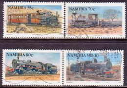 NAMIBIA 1994 SG 653-56 Compl. Set Used Steam Locomotives - Namibia (1990- ...)