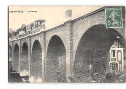 CPA 76 Londinieres Le Viaduc Et Le Train Tramway Ligne De Saint Roch Aumale Envermeu - Londinières