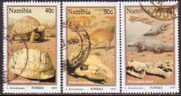 NAMIBIA 1995 SG 663//66 Part Set Used Only 80c Missing Fossils - Namibia (1990- ...)