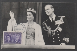 CANADA - REINE ELISABETH II - QE / 22 NOVEMBRE 1952 - QUEBEC CARTE MAXIMUM (ref LE1018)