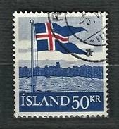 ISLAND 1958 - National Flag - Mi:IS 328 - Usati