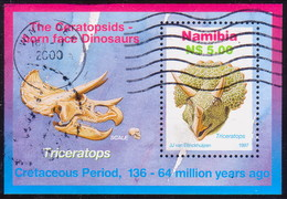 NAMIBIA 1997 SG  MS738 M/s Used Dinosaurs