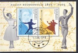 #Denmark 2005. Ballet Bournonville. Bloc. Michel 25. Used(o).