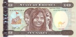 ERITREA 10 NAKFA 1997 P-3 UNC [ ER103a ] - Erythrée