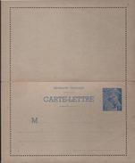 Carte-lettre Entier 1f Bleu Type Mercure Neuve