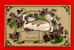 1er Avril - Poisson Et Fleurs - Divisé/circulé - (G198) - 1er Avril - Poisson D'avril