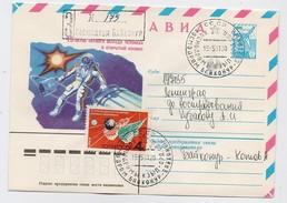 SPACE Used Mail Cover Stationery USSR RUSSIA Baikonur Baikonour SOYUZ-40 Sputnik Rocket Interkosmos Romania