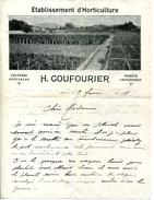 83.VAR.HYERES.ETABLISSEMENT D'HORTICULTURE.H.COUFOURIER CULTURES SPECIALES PHŒNIX & CANARIENSIS. - Agriculture