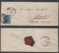 BELGIQUE - BELGIE - ANVERS - ANTWERPEN / 1861 LETTRE POUR HAALTERT (ref 2700)