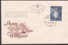 """Österreich 1957: Merkurbrief Ersttag/FDC """"Anton Wildgans"""" V. 3.5.1957 (siehe Foto/ Scan)"""