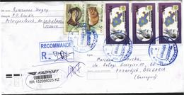 Mailed Cover (letter) With Stamps Fauna, Map 1993 From Kazakhstan To Bulgaria