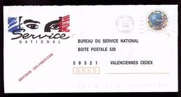 Lettre PAP Pret A Poster TSC Bureau Du Service National De Valenciennes Football Foot France 98 Coupe Monde - Entiers Postaux