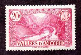 Andorre  N°30 N** TB Cote 30 Euros !!!