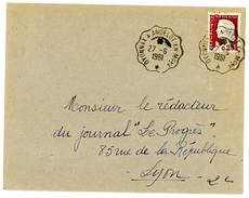 JURA AIN ENV 1961 CONVOYEUR DE LIGNE OYONNAX A ANDELOT EN Mgne - Postmark Collection (Covers)