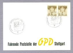 Germany Deutschland 1967, Fahrende Poststelle Der OPD Stuttgart Ganzsache Sonderstempel