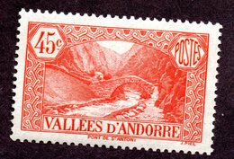 Andorre  N°34 N** TB Cote 30 Euros !!!