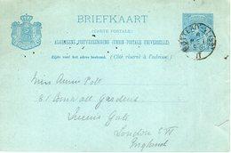 1890 Treinstempel ROTTERD:-VLISS: II Op Bk Naar London - Poststempels/ Marcofilie