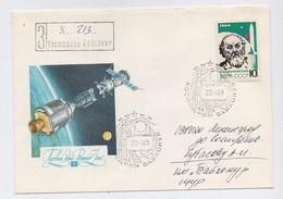 SPACE Used Mail Cover USSR RUSSIA Baikonur Baikonour SOYUZ T-8 Sputnik Rocket Not Dent Tsiolkovsky
