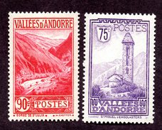 Andorre  N°37,38 N** TB Cote 37 Euros !!!