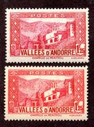 Andorre  N°39A,77 N** TB Cote 150 Euros !!!