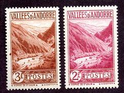 Andorre  N°41,42 N** TB Cote 56 Euros !!!