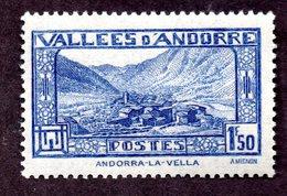 Andorre  N°40 N** (légères Adhérences) TB Cote  50 Euros !!!