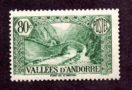 Andorre  N°71 N** (légères Adhérences) TB Cote  62 Euros !!!