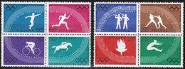Polen Polska 1960: Olympische Spiele In Rom Michel-Nr.1166-73 A (gezähnt) ** MNH