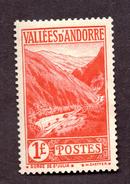 Andorre  N°74 N** (légères Adhérences) TB Cote  68 Euros !!!