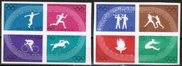 Polen Polska 1960: Olympische Spiele In Rom Michel-Nr.1166-73 B (ungezähnt) ** MNH